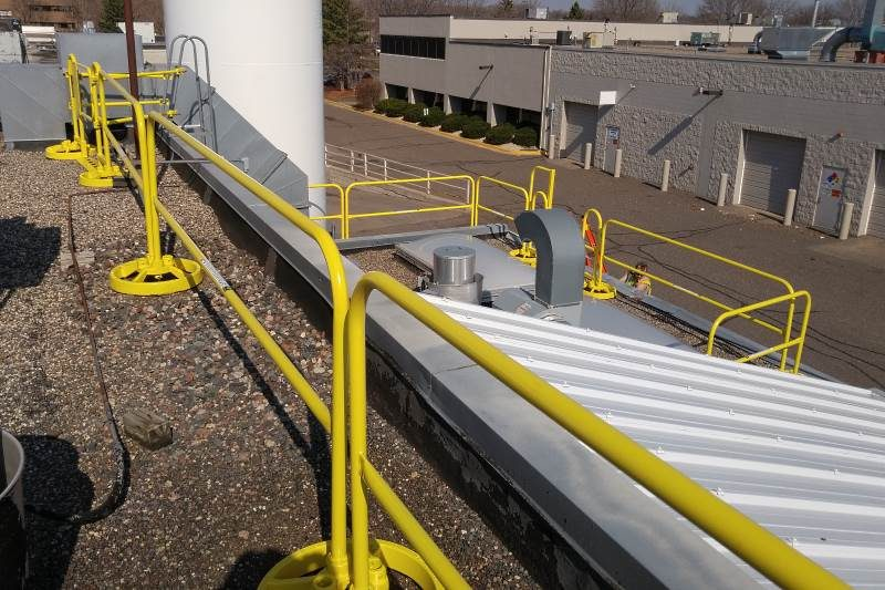 360 Mobile Safety Rail Non Penetrating Guardrail For
