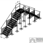 120in Clear Roof Crossover - EDGE Fall Protection