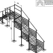 128×60 Variable Height Roof Crossover – EDGE Fall Protection