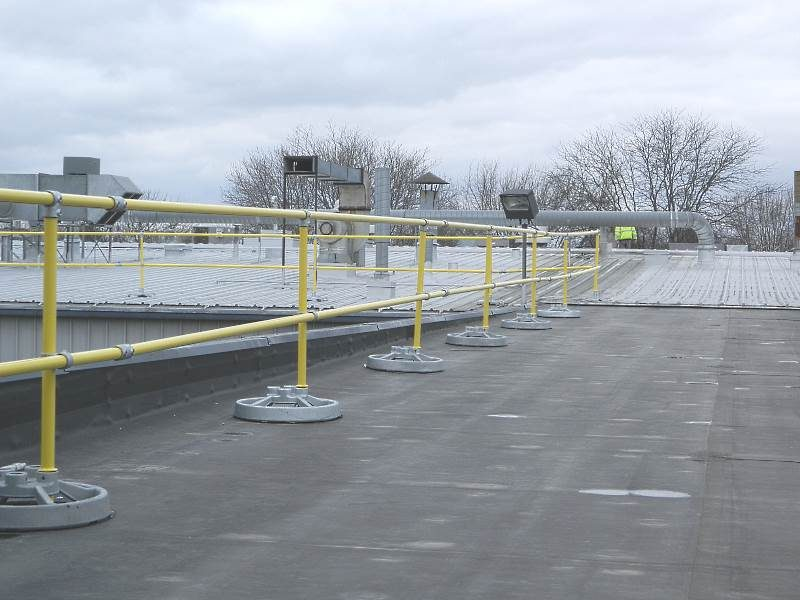 Accufit Safety Rail System Freestanding And Galvanized