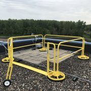 EDGE Fall Protection – Wheeled Gate – Sysco