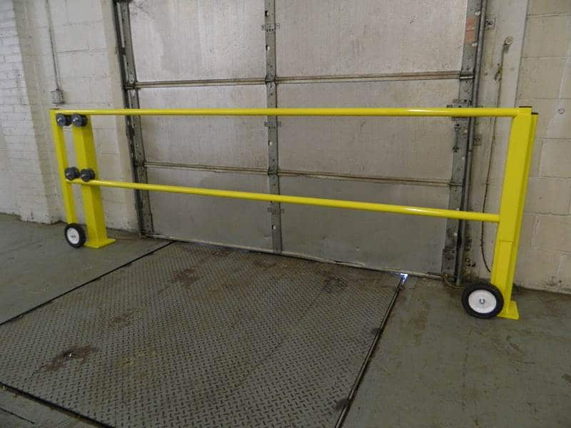 Industrial loading dock safety gate quality safety rails loading rolling dock gate edge fall protection sciox Image collections