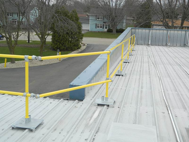 Need A Metal Roof Guardrail Start Here