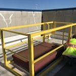 Sysco Roof Hatch Railing Install
