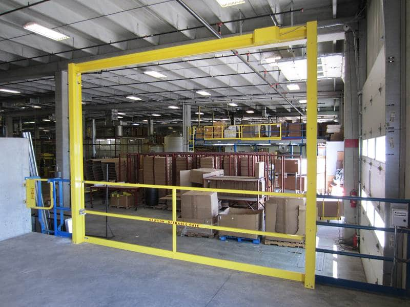 Vertical Mezzanine Safety Gate Industrial Railings