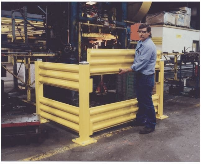 Forklift Guardrail Edge Fall Protection