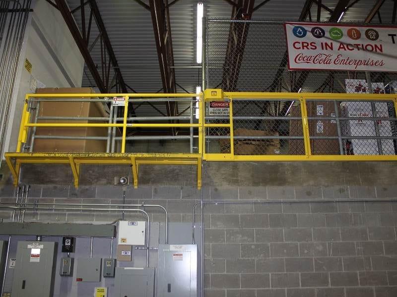 Horizontal Mezzanine Safety Gate - EDGE Fall Protection