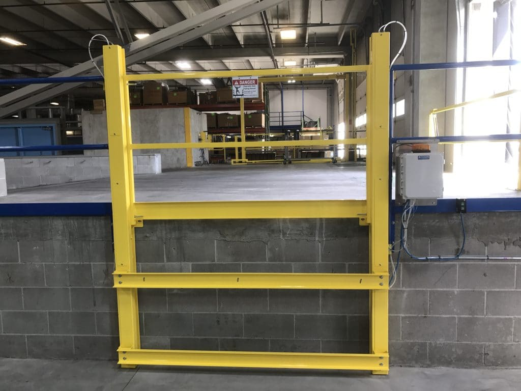 Downward Vertical Mezzanine Safety Gate - EDGE Fall Protection, LLC (1)