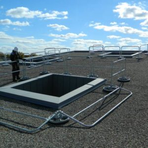 360 Mobile Hide-a-Rail Folding Rail - EDGE Fall Protection