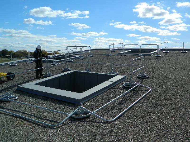 360 Mobile Hide-a-Rail Folding Rail - EDGE Fall Protection