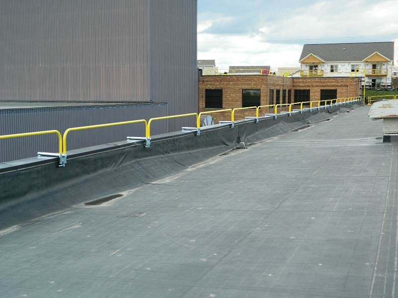 Parapet Clamping Railing Temporary Safety Rails