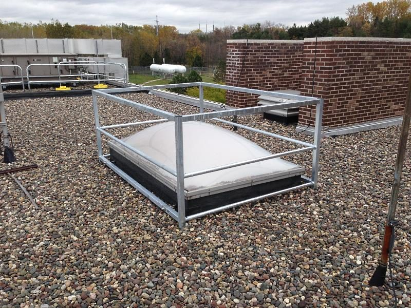 Skyview Barrier Rail System - EDGE Fall Protection