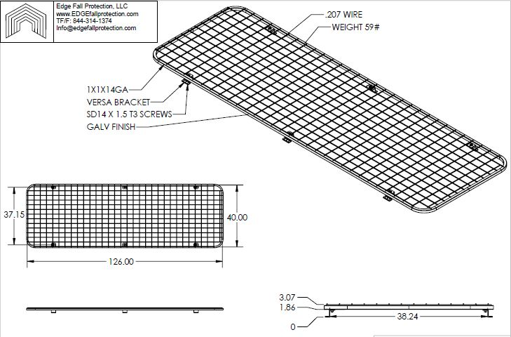 Metal Roof Skylight Screen Edge Fall Protection