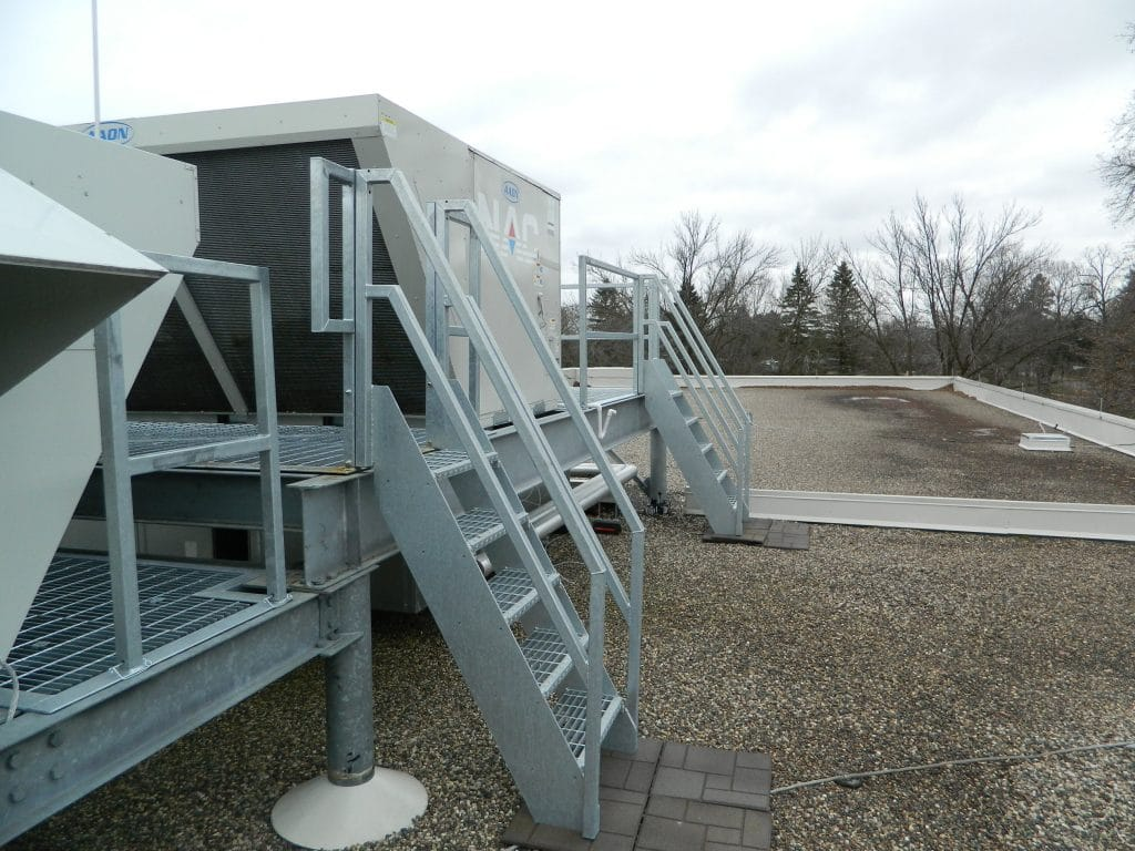 Fixed Roof Access Ladder Edge Fall Protection