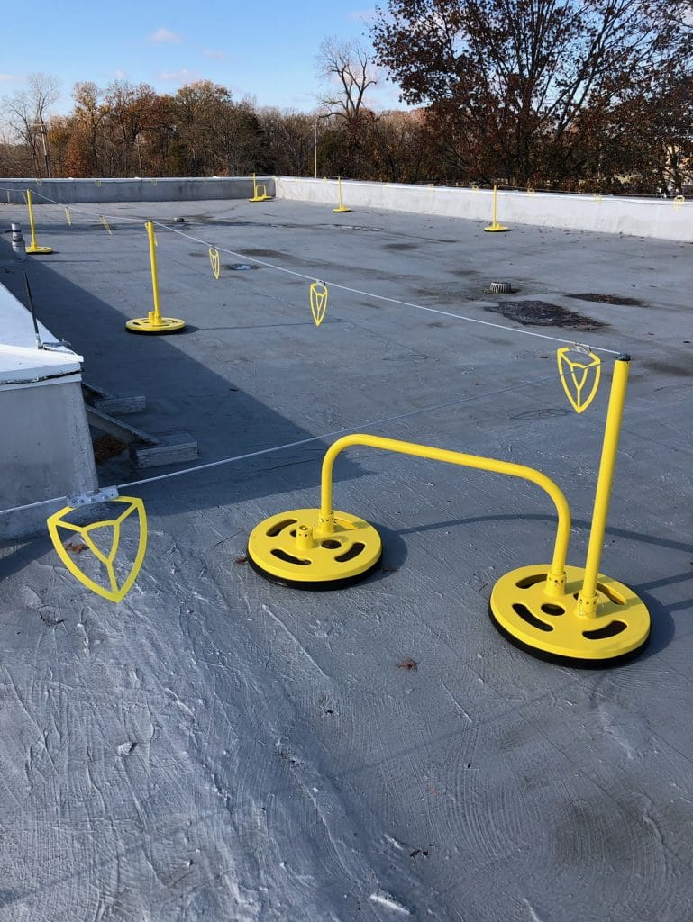 Roof Perimeter Warning Line System Spacing Edge Fall Protection