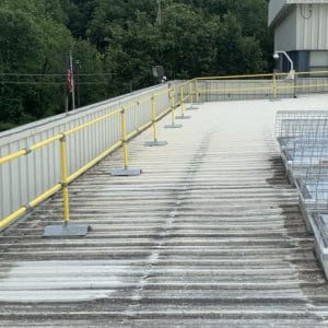 Metal Roof Safety Rail - EDGE Fall Protection LLC